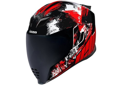 ICON Airflite Stim Red Helmet