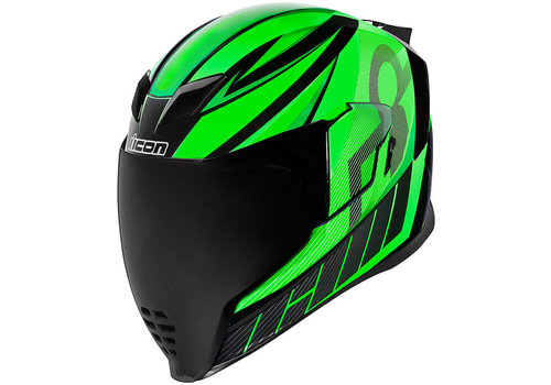 ICON Airflite QB1 Green Helmet