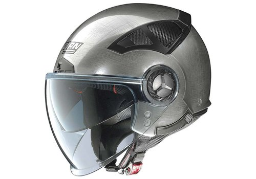 Nolan N33 Evo Classic Scratched Chrome Helmet