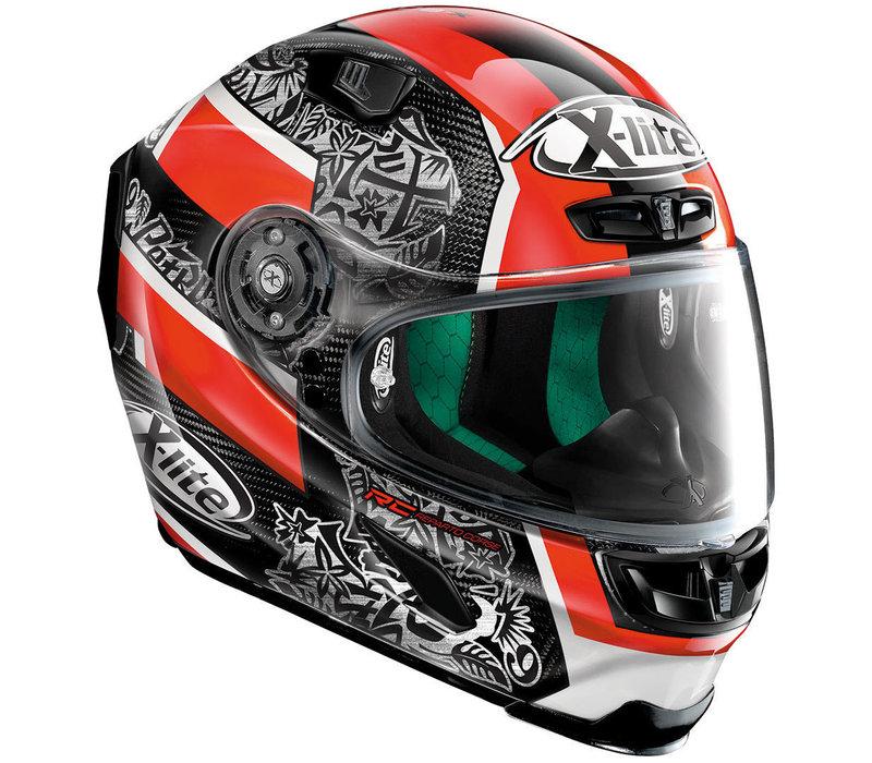 X-Lite X-803 Ultra Carbon Replica Petrucci 053 Helm kopen? + 50% korting op een Extra Vizier!