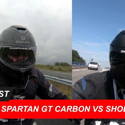 Shark Spartan GT Carbon vs Shoei GT Air 2 Road Test and Video