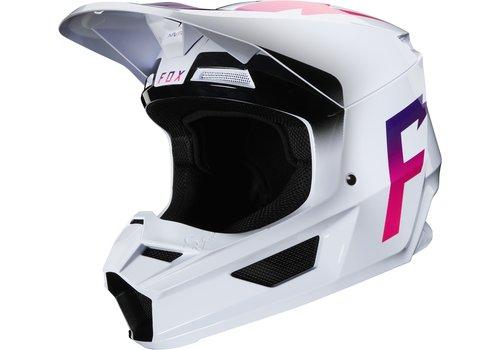 Fox V1 Werd White Helmet