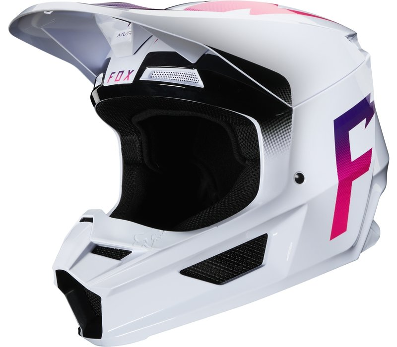 Fox V1 Cross helmet  Werd White