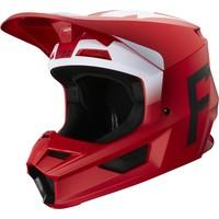 Fox V1 Cross helmet  Werd Flame Red