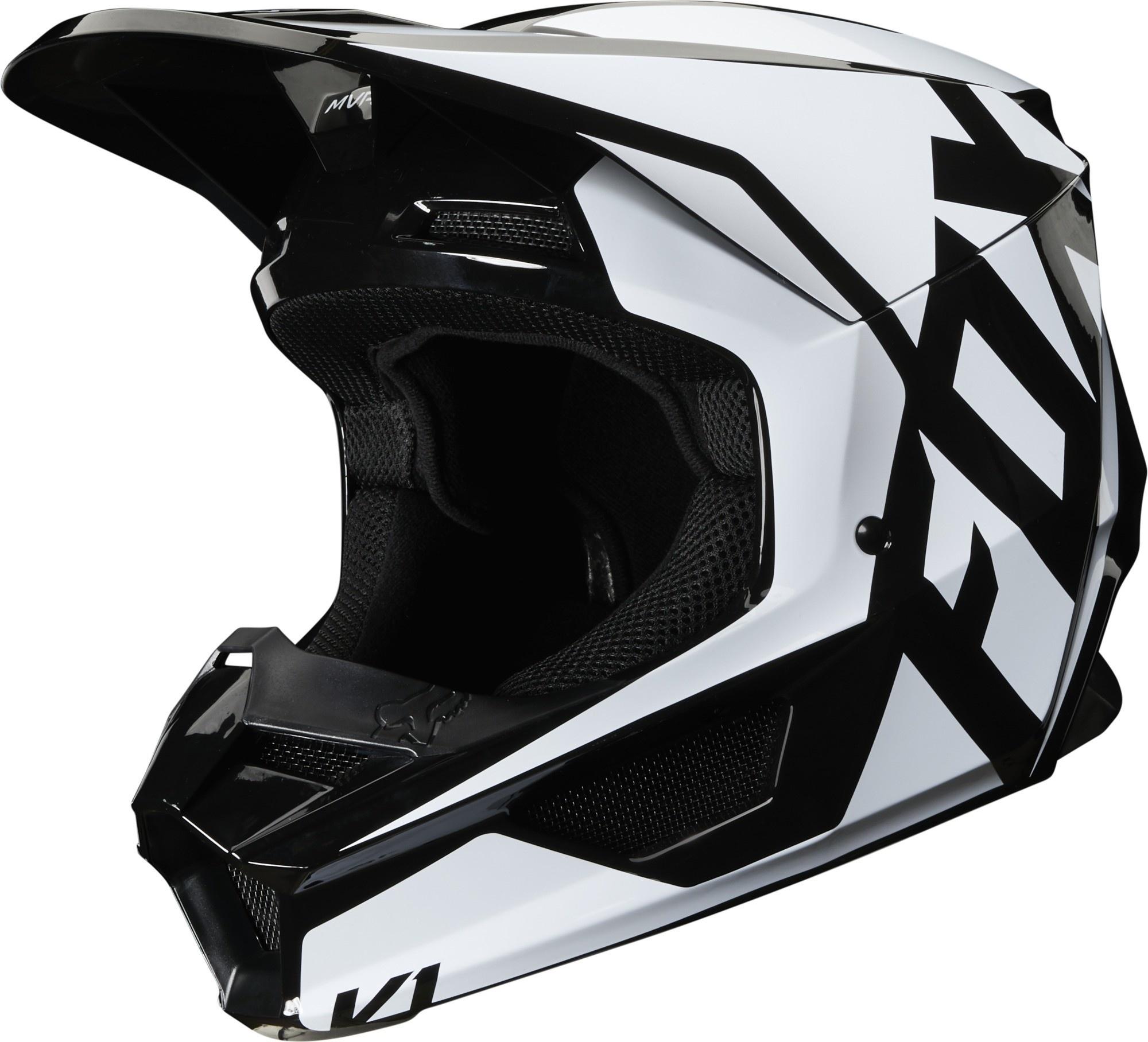 Fox V1 Prix Casco Cross Nero Champion Helmets