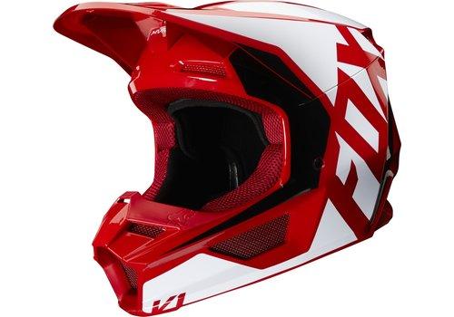 Fox V1 Werd Prix Red Helmet