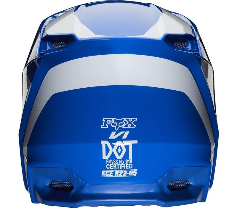 Fox V1 Prix Casco Cross Blu