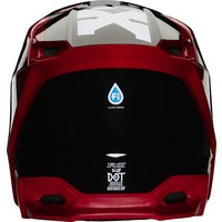 Fox V2 Hayl Cross helmet Flame Red