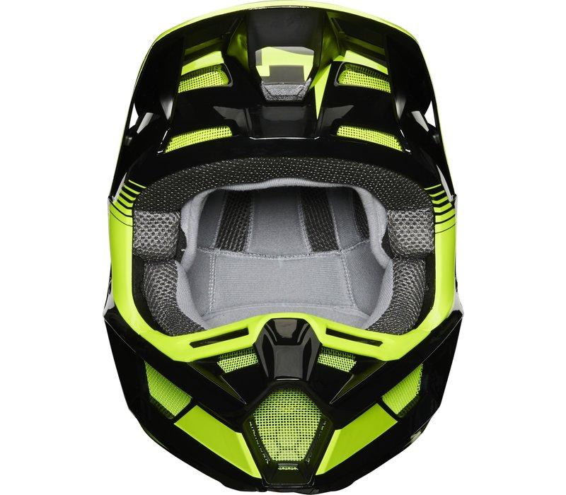 Fox V2 Hayl Cross helmet Yellow Fluo