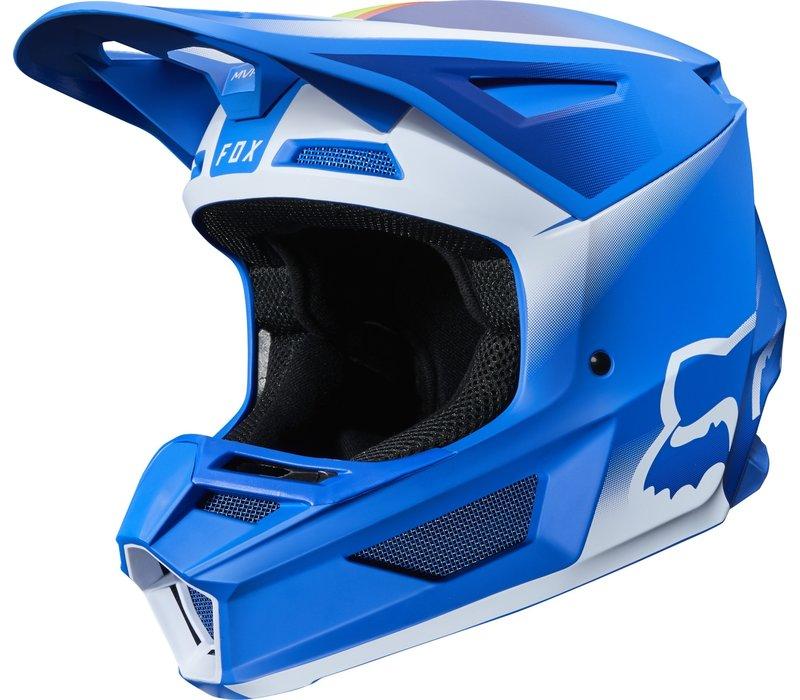 Fox  V2 Vlar Casco Cross Blu