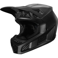 Fox V3 Casco Cross Solids Nero Mate