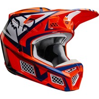 Fox V3 Idol Cross helmet Orange Blue