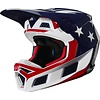 Fox Fox V3 Prey Cross helmet White Red Blue