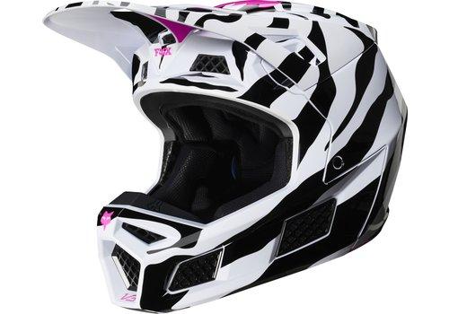 Fox V3 Zebra Black White Pink Helmet