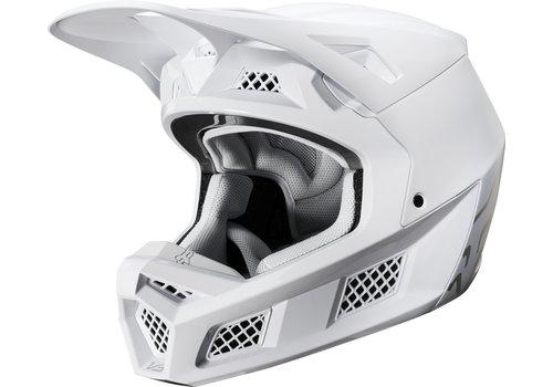 Fox V3 Solids White Silver Helmet