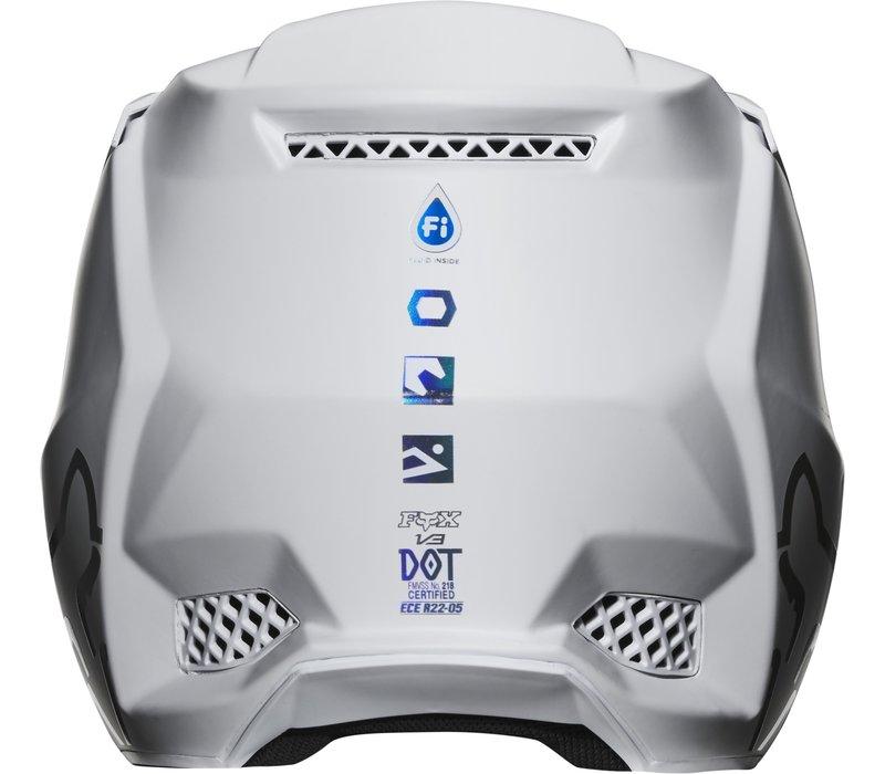 Fox V3 Cross helmet Solids White Silver