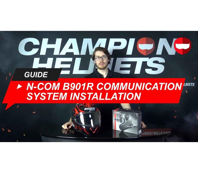 Hoe installeer je het N-Com B901R communicatiesysteem