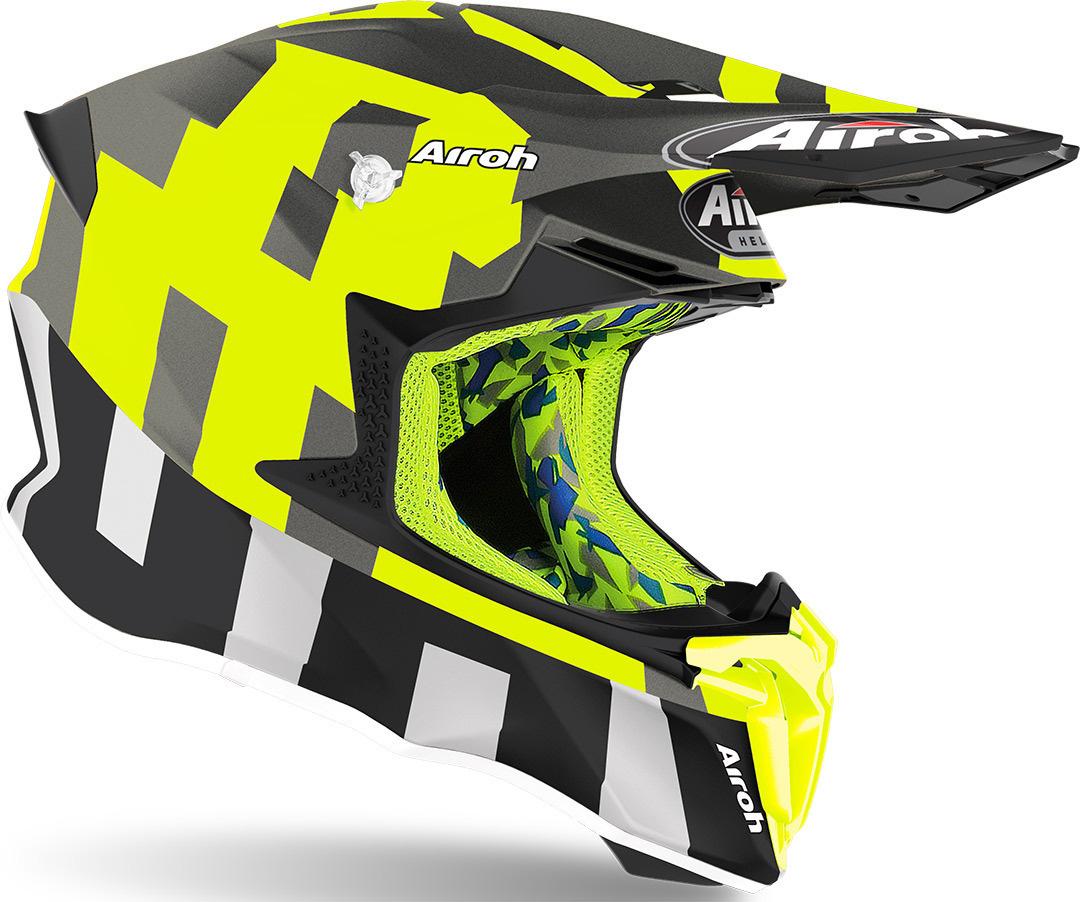 Airoh Twist 2.0 Color black matt Motorcycle Helmet Free Shipping!