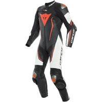 Dainese Misano 2 D-Air Perf 1-delig Motorpak Zwart Wit Fluo Rood