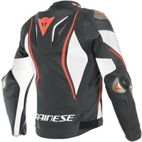 Dainese Tuono D-Air Jas Zwart Wit Fluo Rood