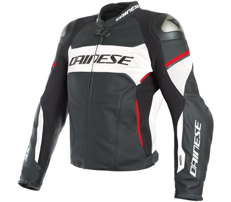 Dainese Racing 3 D-Air Jas Zwart Wit Lava Rood