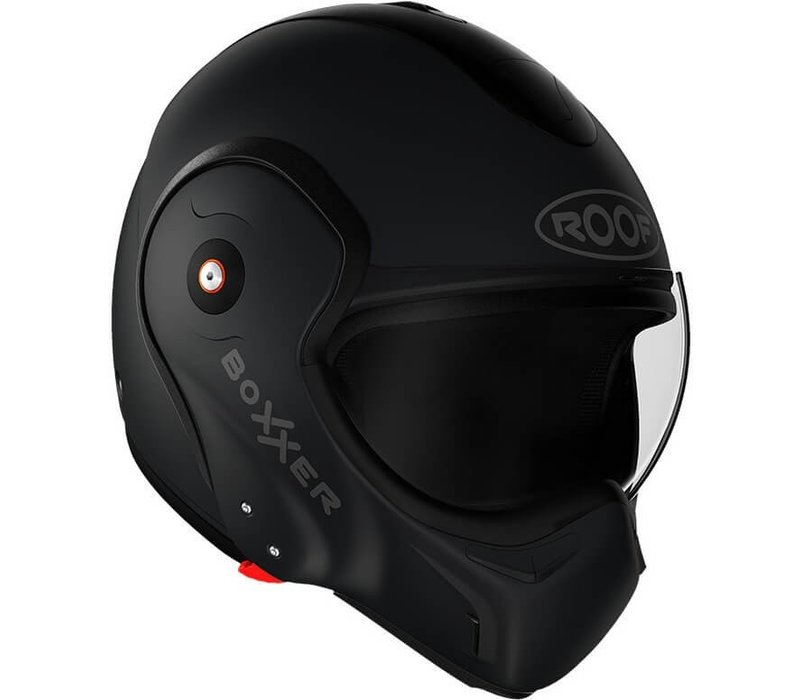 ROOF Boxxer Fiberglass Systeem Helm Mat Zwart + 50% korting op een Extra Vizier!