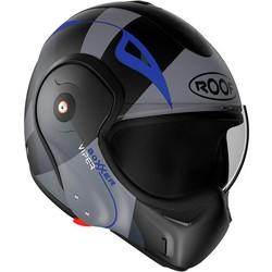 ROOF ROOF Boxxer Fiberglass Viper Systeem Helm Matt Zwart Blauw + 50% korting op een Extra Vizier!