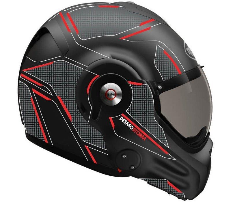 Roof Boxer Desmo 3 Storm Matt Schwarz Titan Rot Helm