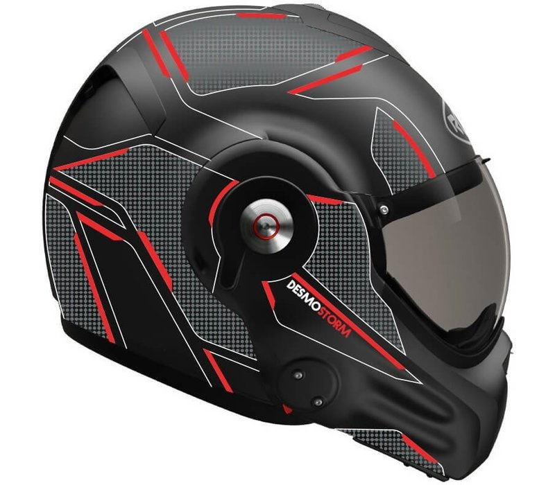 Roof Boxer Desmo 3 Storm Matt Zwart Titan Rood Helm
