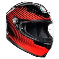 AGV K6 Rush Helm + Gratis Extra Vizier!