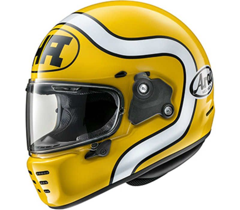 Arai Concept-X HA Yellow Helmet + Free Additional Visor!
