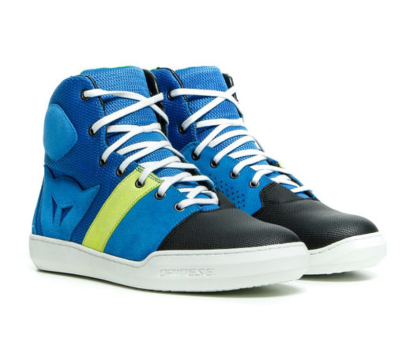 Dainese York Air Performance Blue / Fluo-Yellow Shoes