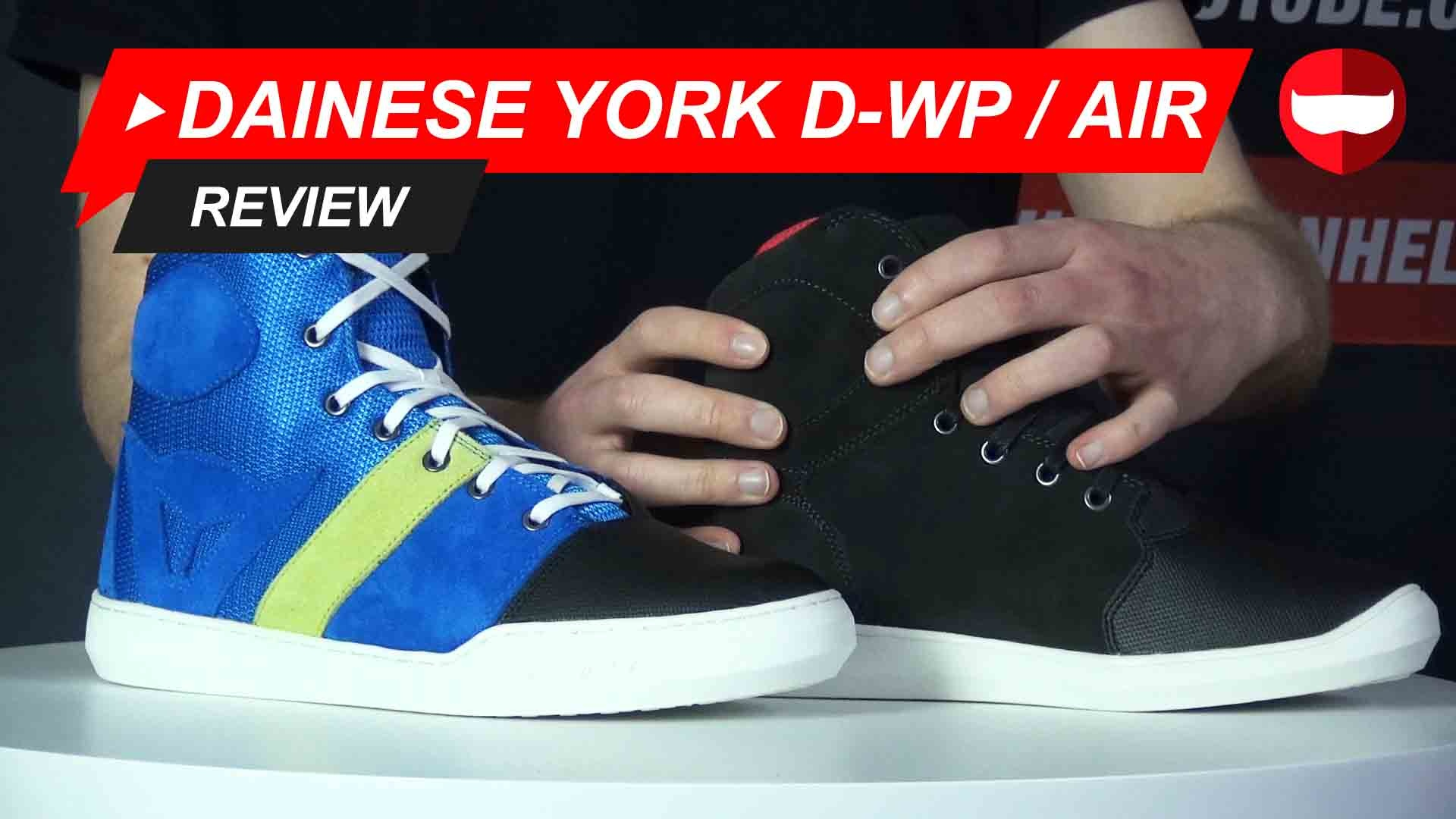 Dainese York D-WP and York Air Shoe Review and Video