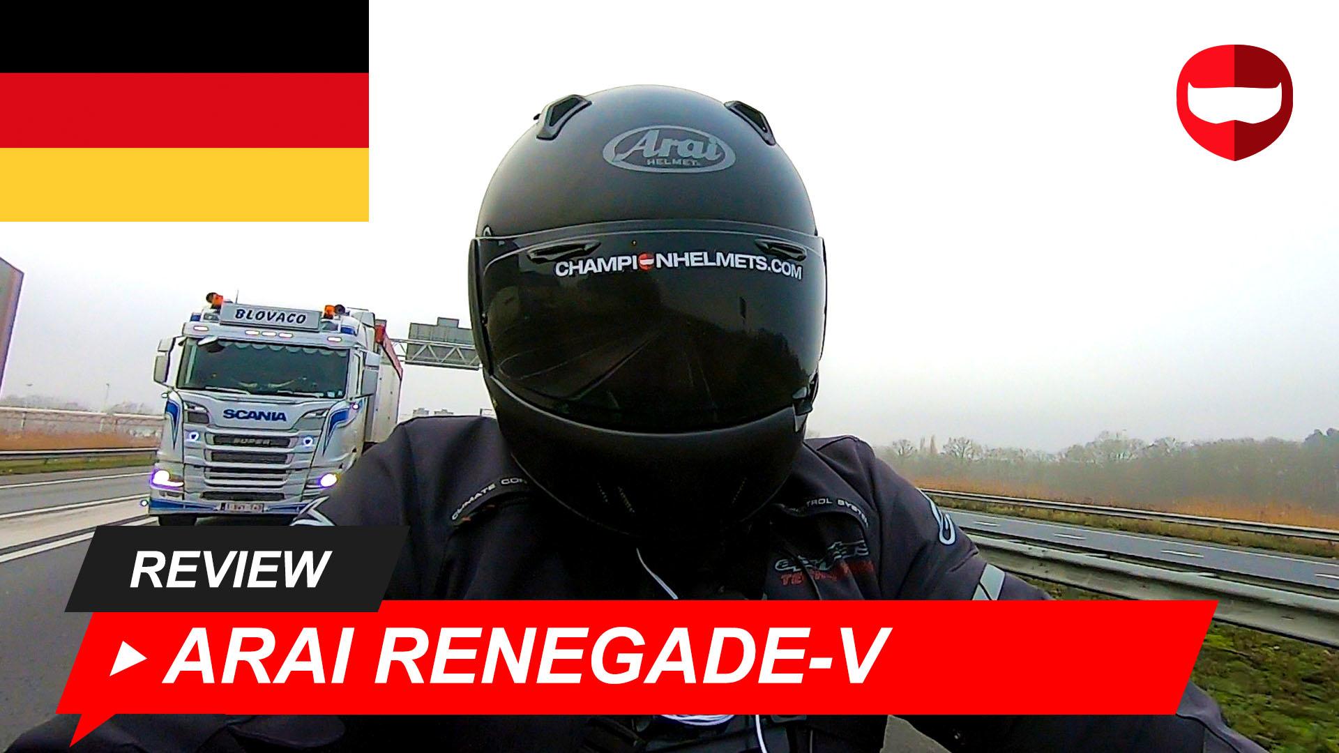 Arai Renegade-V Vorstellung und Straßentest + Video
