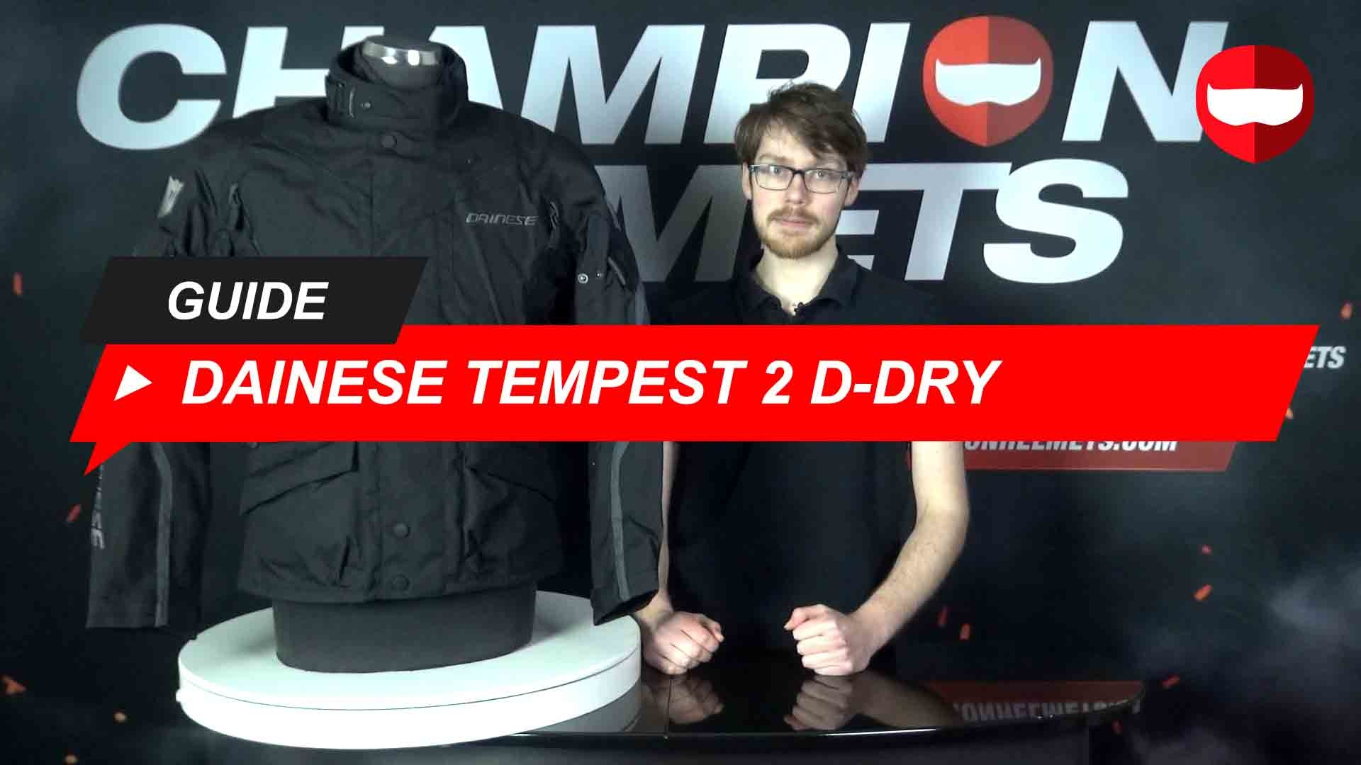 Dainese Tempest 2 D-Dry Jacket Review + Video