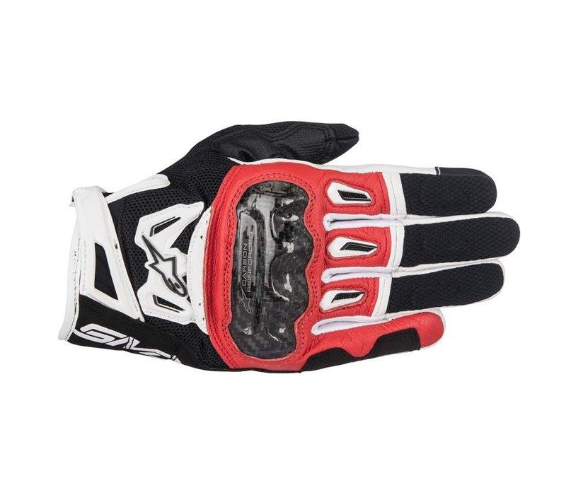 Alpinestars SMX-2 Air Carbon V2 Schwarz Rot Weiß Handschuhe kaufen? 5% Champion Cashback!