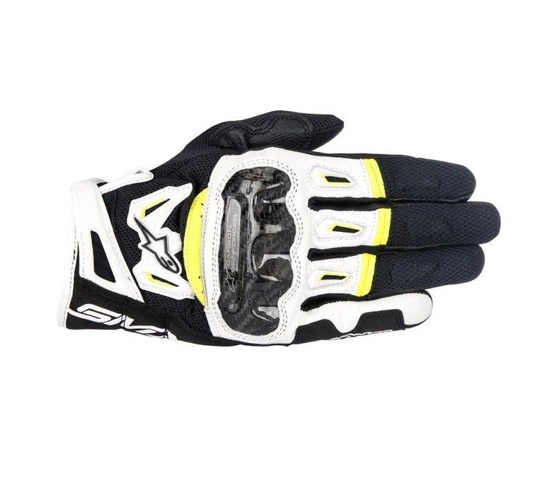 Alpinestars SMX-2 Air Carbon V2 Schwarz Weiß Gelb Fluo Handschuhe kaufen? 5% Champion Cashback!