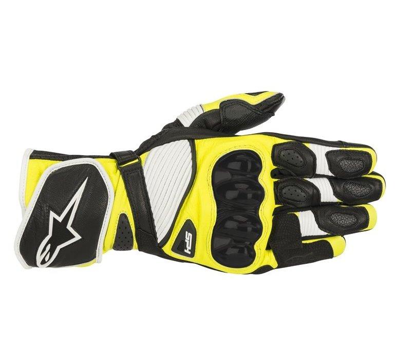 Alpinestars SP-1 V2 Schwarz Weiß Gelb Fluo Handschuhe kaufen? 5% Champion Cashback!