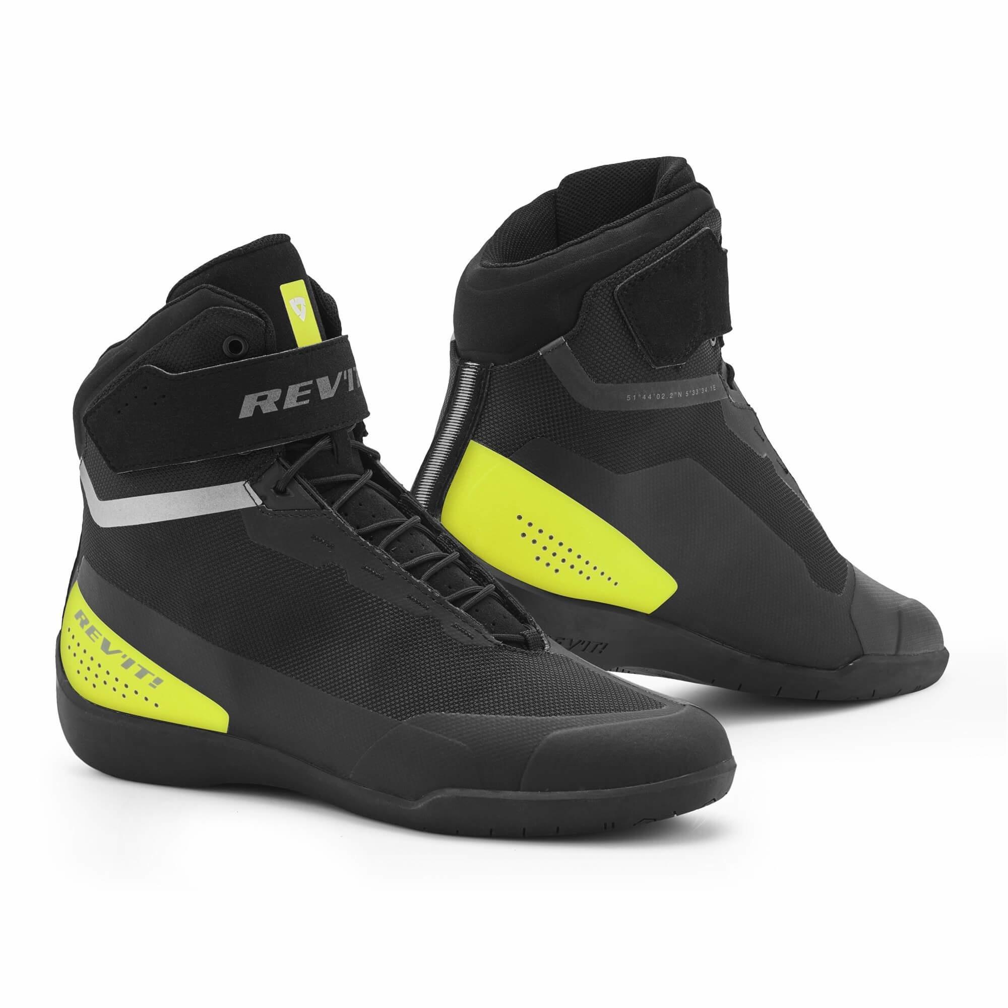 Revit Mission Black Neon Yellow Shoes +