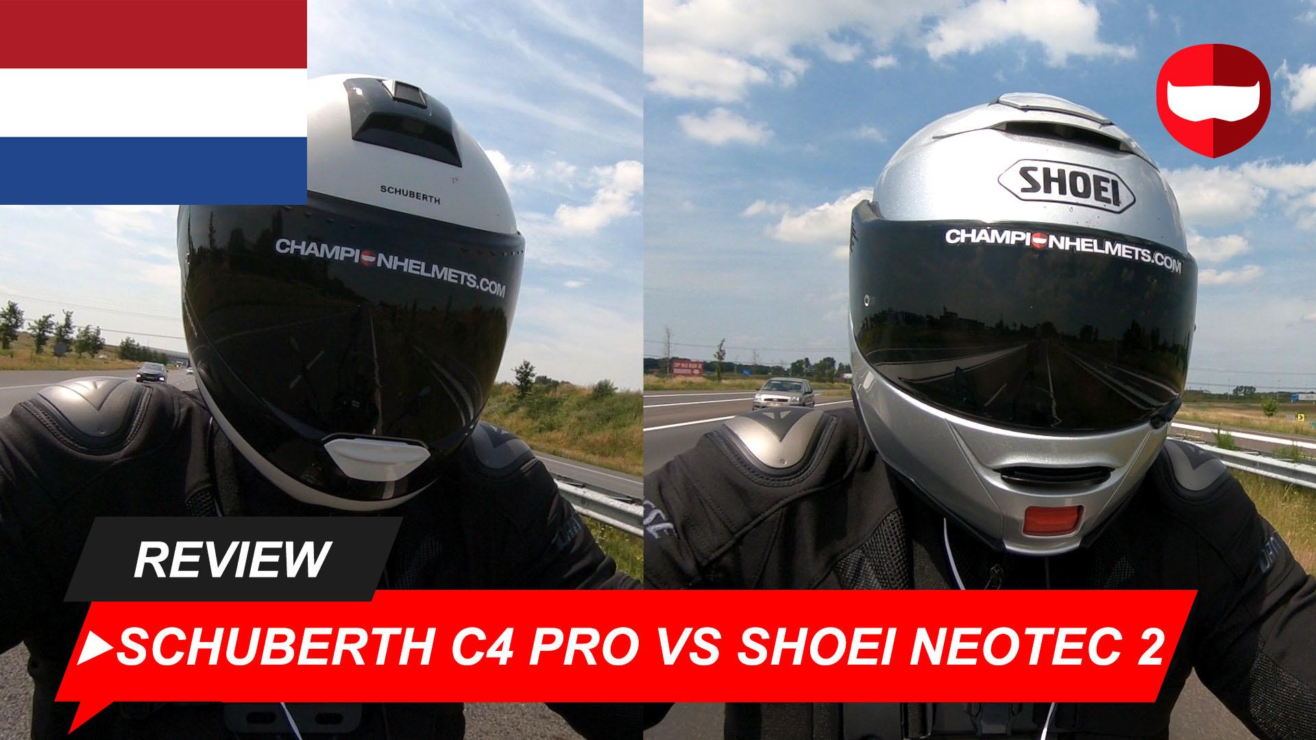 Schuberth C4 Pro vs Shoei Neotec 2 Rij Test + Video