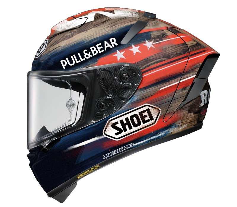 buy Shoei X-Spirit III Marquez America TC2 Helmet Helmet? Free Additional Visor!