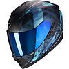ROOF Casco Scorpion EXO-1400 Air Sylex Matt Nero Blu + 50% di sconto sulla visiera extra!