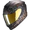 AGV Scorpion EXO-1400 Air Toa Matt Schwarz Gold Helm kaufen? + 50% Rabatt auf ein Extra Visier!