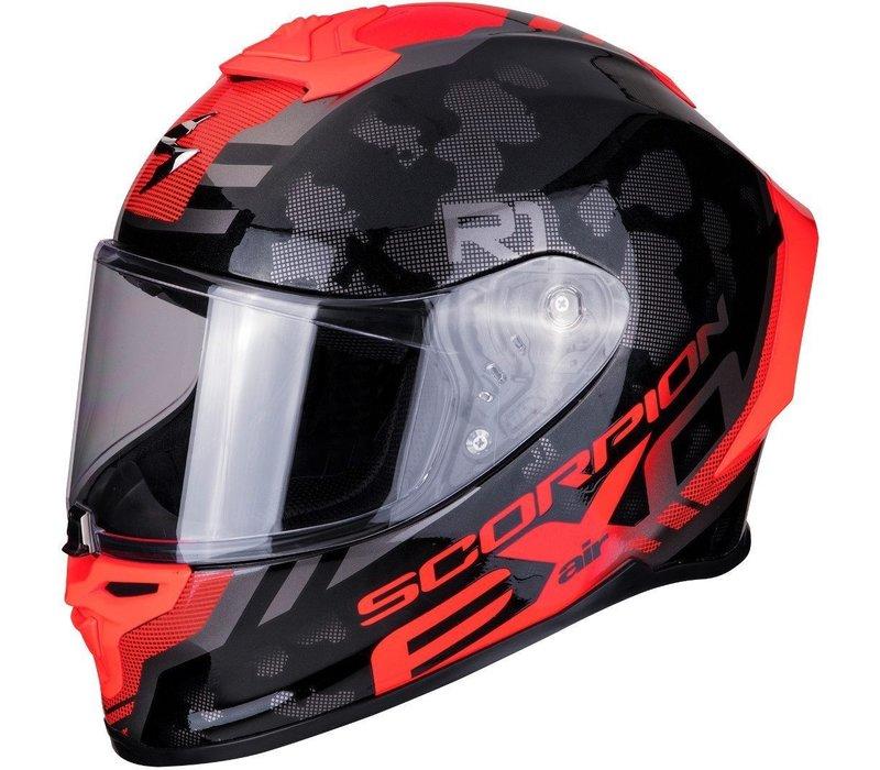 Scorpion EXO-R1 Air OGI Schwarz Rot Helm + 50% Rabatt auf ein Extra Visier!