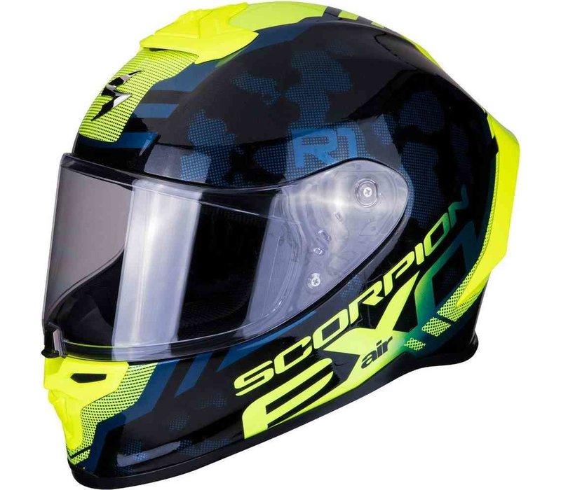 Scorpion EXO-R1 Air OGI Schwarz Neon-Gelb Helm kaufen? Kostenloser Visier!