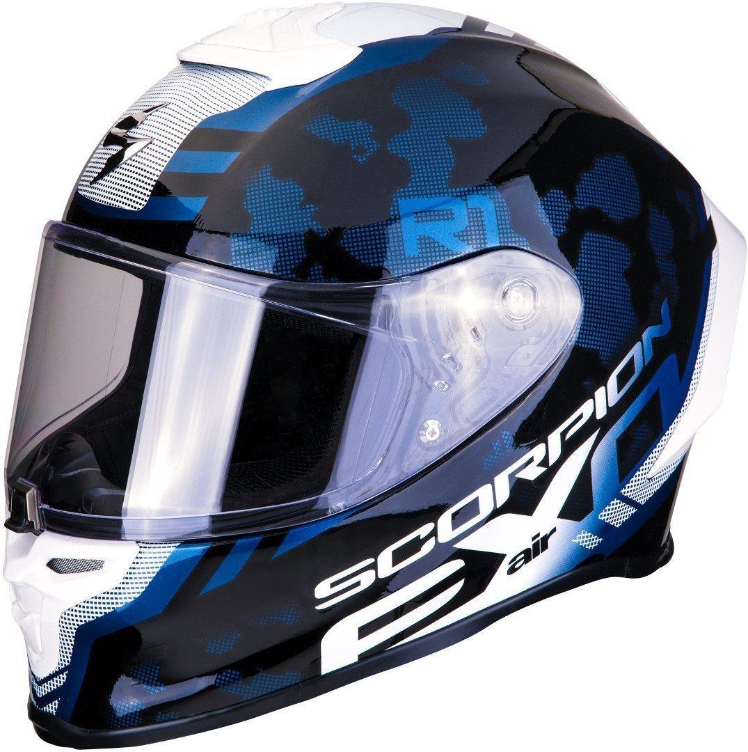 SCORPION EXO-R1 AIR INFINI HELMET WHITE-BLUE-RED S