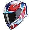 Scorpion Scorpion EXO-R1 Air Infini Casco Azzurro Rosso Bianco  + 50% di sconto sulla visiera extra!