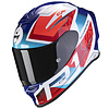 Scorpion Scorpion EXO-R1 Air Infini  Helm Blau Rot Weiss + 50% Rabatt auf ein Extra Visier!