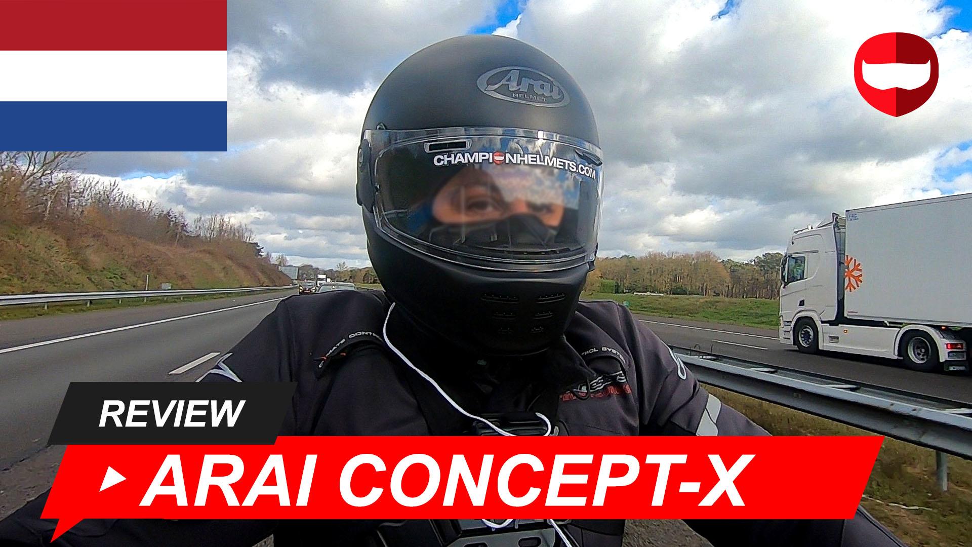 Arai Concept-X Review en Rij Test + Video