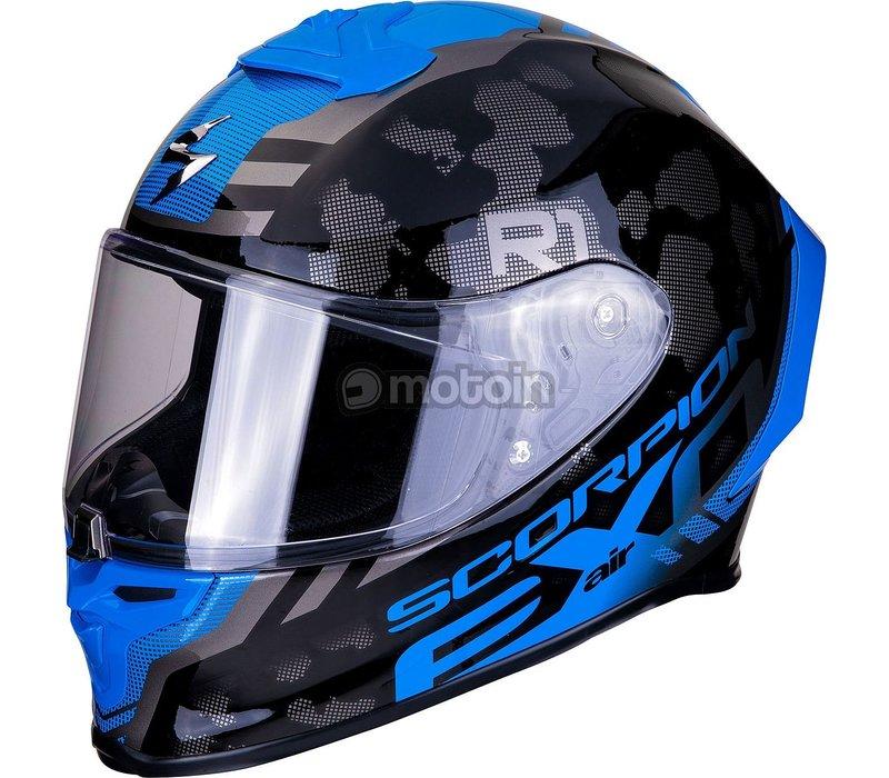 Scorpion EXO-R1 OGI Blau Dark Silber kaufen Helm? Kostenlose Sendung & Rücksendung!